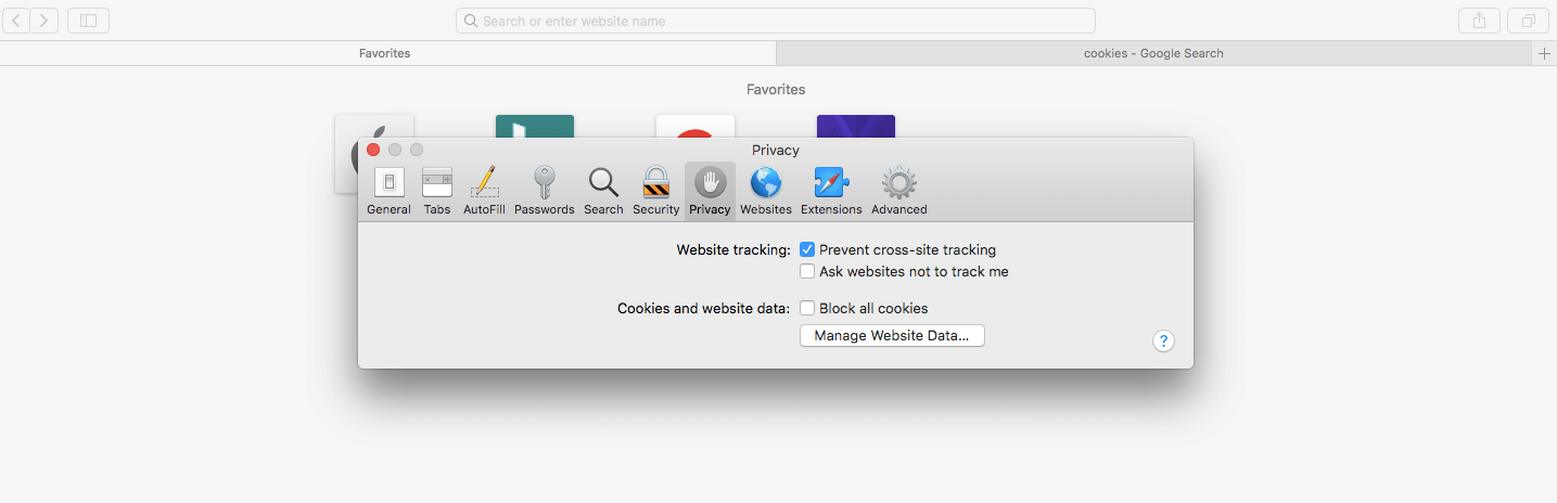 How to enable cookies on Mac
