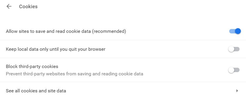how to enable cookies on mac chrome