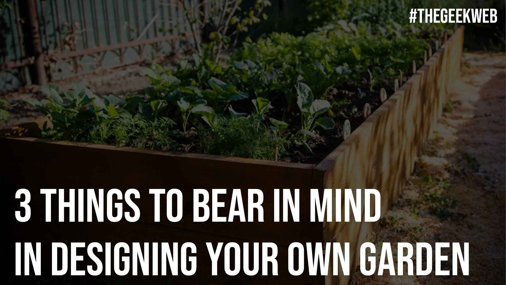 3 Things To Bear In Mind In Designing Your Own Garden