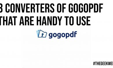 3 Converters of GoGoPDF That Are Handy to Use