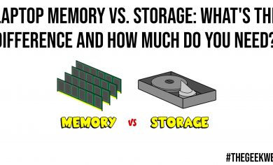 Laptop Memory vs Storage What is the Difference and How Much Do You Need
